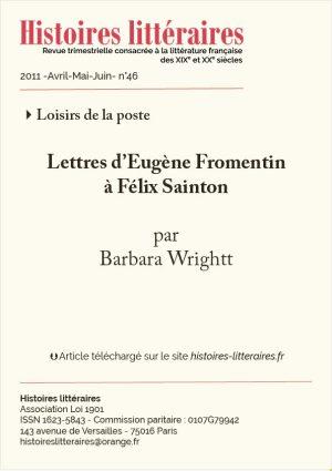 Couv. Fromentin Sainton
