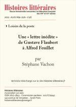 Une « lettre inédite » <br>de Gustave Flaubert à Alfred Feuillet