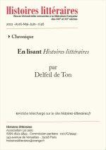 En lisant <em>Histoires littéraires</em> n°45