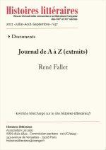Journal de A à Z (extraits)