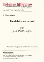 Baudelaire re-censuré