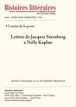 Lettres de Jacques Sternberg à Nelly Kaplan