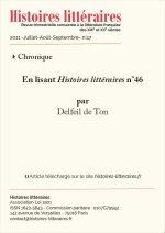 En lisant <em>Histoires littéraires</em> n°46