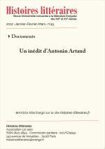 Un inédit d'Antonin Artaud