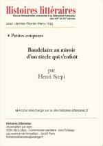 Baudelaire au miroir d'un siècle qui s'enfuit