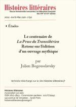 Le centenaire de <br><em>La Prose du Transsibérien</em><br> Retour sur l'édition d'un ouvrage mythique