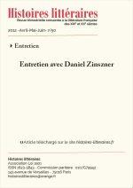 Entretien avec Daniel Zinszner