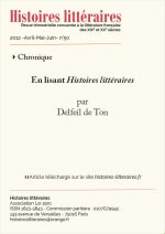En lisant <em>Histoires littéraires</em> n°49