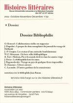 Dossier Bibliophilie