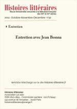 Entretien avec Jean Bonna