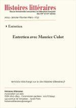 Entretien avec Maurice Culot
